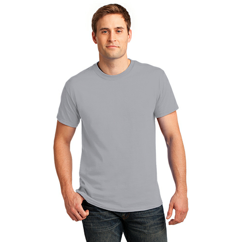 Ath Heather Port & Company 5.4-oz 100% Cotton T-Shirt as seen from the front
