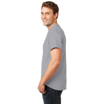 Ath Heather Port & Company 5.4-oz 100% Cotton T-Shirt as seen from the sleeveleft