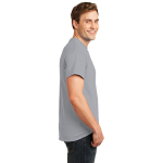 Ath Heather Port & Company 5.4-oz 100% Cotton T-Shirt as seen from the sleeveright