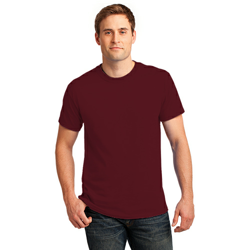 Ath Maroon Port & Company 5.4-oz 100% Cotton T-Shirt as seen from the front