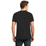 Black Port & Company 5.4-oz 100% Cotton T-Shirt as seen from the back