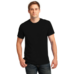Black Port & Company 5.4-oz 100% Cotton T-Shirt as seen from the front