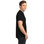 Black Port & Company 5.4-oz 100% Cotton T-Shirt as seen from the sleeveright
