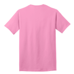 Candy Pink Port & Company 5.4-oz 100% Cotton T-Shirt as seen from the back