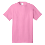 Candy Pink Port & Company 5.4-oz 100% Cotton T-Shirt as seen from the front