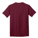 Cardinal Port & Company 5.4-oz 100% Cotton T-Shirt as seen from the back