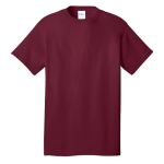 Cardinal Port & Company 5.4-oz 100% Cotton T-Shirt as seen from the front