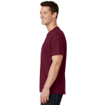 Cardinal Port & Company 5.4-oz 100% Cotton T-Shirt as seen from the sleeveleft