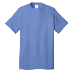 Carolina Blue Port & Company 5.4-oz 100% Cotton T-Shirt as seen from the front