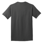 Charcoal Port & Company 5.4-oz 100% Cotton T-Shirt as seen from the back
