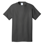 Charcoal Port & Company 5.4-oz 100% Cotton T-Shirt as seen from the front