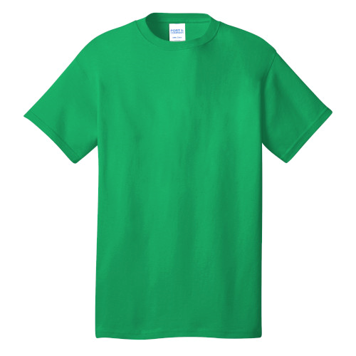 Clover Green Port & Company 5.4-oz 100% Cotton T-Shirt as seen from the front