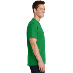 Clover Green Port & Company 5.4-oz 100% Cotton T-Shirt as seen from the sleeveright