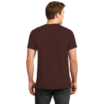 Dk Choc Brown Port & Company 5.4-oz 100% Cotton T-Shirt as seen from the back