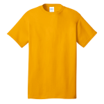Gold Port & Company 5.4-oz 100% Cotton T-Shirt as seen from the front