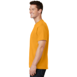 Gold Port & Company 5.4-oz 100% Cotton T-Shirt as seen from the sleeveleft