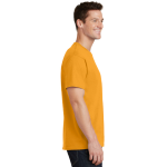 Gold Port & Company 5.4-oz 100% Cotton T-Shirt as seen from the sleeveright