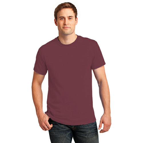 Hthr Ath Mroon Port & Company 5.4-oz 100% Cotton T-Shirt as seen from the front
