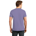 Hthr Purple Port & Company 5.4-oz 100% Cotton T-Shirt as seen from the back