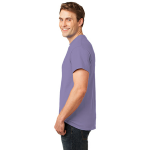 Hthr Purple Port & Company 5.4-oz 100% Cotton T-Shirt as seen from the sleeveleft