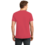 Hthr Red Port & Company 5.4-oz 100% Cotton T-Shirt as seen from the back
