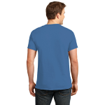 Hthr Royal Port & Company 5.4-oz 100% Cotton T-Shirt as seen from the back