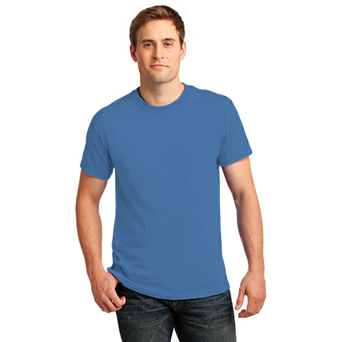 Hthr Royal Port & Company 5.4-oz 100% Cotton T-Shirt as seen from the front