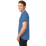 Hthr Royal Port & Company 5.4-oz 100% Cotton T-Shirt as seen from the sleeveleft
