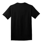 Jet Black Port & Company 5.4-oz 100% Cotton T-Shirt as seen from the back