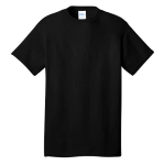Jet Black Port & Company 5.4-oz 100% Cotton T-Shirt as seen from the front