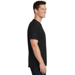 Jet Black Port & Company 5.4-oz 100% Cotton T-Shirt as seen from the sleeveright
