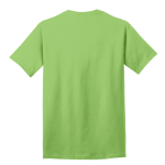 Lime Port & Company 5.4-oz 100% Cotton T-Shirt as seen from the back