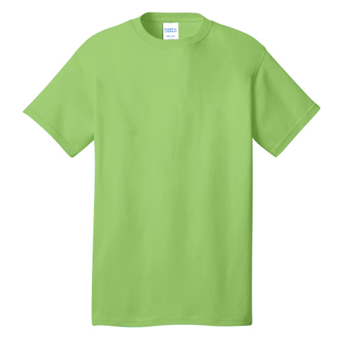 Lime Port & Company 5.4-oz 100% Cotton T-Shirt as seen from the front