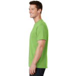 Lime Port & Company 5.4-oz 100% Cotton T-Shirt as seen from the sleeveleft