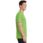 Lime Port & Company 5.4-oz 100% Cotton T-Shirt as seen from the sleeveright