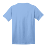 Light Blue Port & Company 5.4-oz 100% Cotton T-Shirt as seen from the back