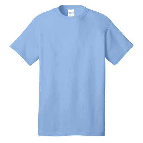 Light Blue Port & Company 5.4-oz 100% Cotton T-Shirt as seen from the front