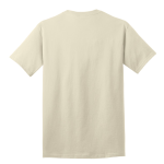 Natural Port & Company 5.4-oz 100% Cotton T-Shirt as seen from the back