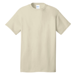 Natural Port & Company 5.4-oz 100% Cotton T-Shirt as seen from the front