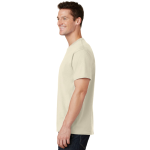 Natural Port & Company 5.4-oz 100% Cotton T-Shirt as seen from the sleeveleft