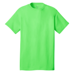 Neon Green Port & Company 5.4-oz 100% Cotton T-Shirt as seen from the front