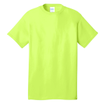 Neon Yellow Port & Company 5.4-oz 100% Cotton T-Shirt as seen from the front