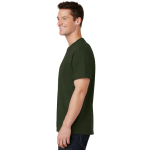 Olive Port & Company 5.4-oz 100% Cotton T-Shirt as seen from the sleeveleft