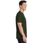 Olive Port & Company 5.4-oz 100% Cotton T-Shirt as seen from the sleeveright