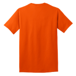 Orange Port & Company 5.4-oz 100% Cotton T-Shirt as seen from the back