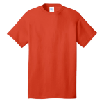 Orange Port & Company 5.4-oz 100% Cotton T-Shirt as seen from the front
