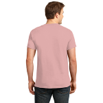 Pale Pink Port & Company 5.4-oz 100% Cotton T-Shirt as seen from the back