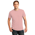 Pale Pink Port & Company 5.4-oz 100% Cotton T-Shirt as seen from the front