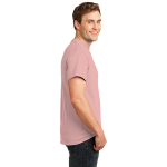 Pale Pink Port & Company 5.4-oz 100% Cotton T-Shirt as seen from the sleeveright
