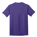 Purple Port & Company 5.4-oz 100% Cotton T-Shirt as seen from the back